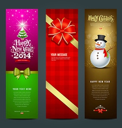 Happy New Year 2014 banner design collections vector image vector image
