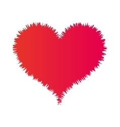 heart love card decoration vector image