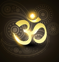 Beautiful golden om symbol vector