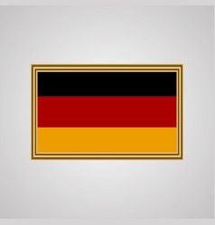 flag of germany in a golden frame vector image