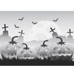 gray halloween pumpkin background vector image