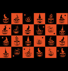 halloween seamless pattern wrapping paper for vector image vector image