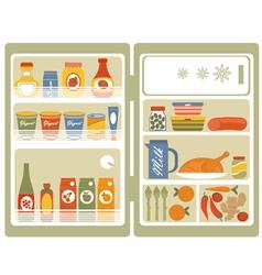 Open fridge 2 vector image