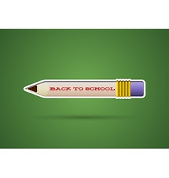 Pencil sticker with eraser vector image