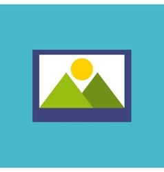 picture flat isolated icon vector image