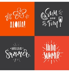 Summer handdrawn lettering vector