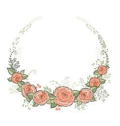 vintage wedding invitation card elegant floral vector image
