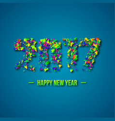2017 abstract numeric new year concept vector