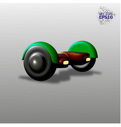 3d electric skate with a smart balance easy to vector image