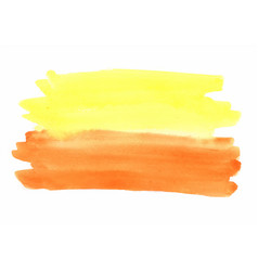abstract yellow and orange watercolor background vector image