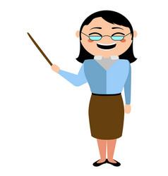 asian teacher cartoon character vector image
