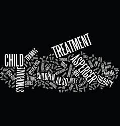 Aspergers treatment text background word cloud vector