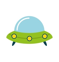 Baby toy spaceship isolated icon design vector