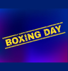 Boxing day scratched stamp seal on gradient vector