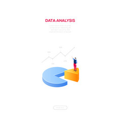 business analysis - modern isometric web vector image