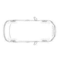 Car outline drawing vector