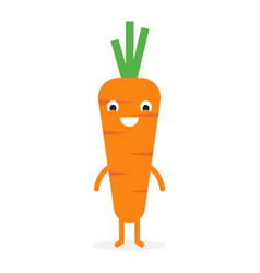 Carrot cute vegetable character vector