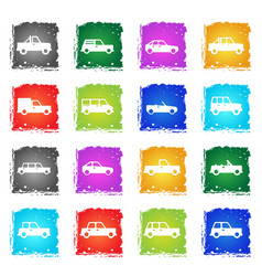cars simply icons vector image
