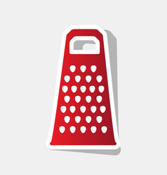 cheese grater sign new year reddish icon vector image