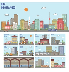 City Transport Infographics vector