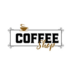 coffee hipster vintage stylized lettering badge vector image