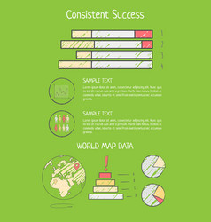 consistent success analysis vector image