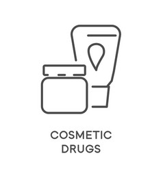 Cosmetic drugs skincare cream and lotion isolated vector