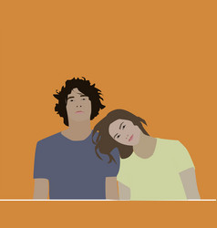 couples on white background vector image