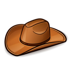 Cowboy hat design concept vector