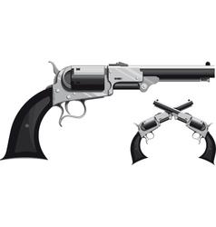 Cowboy revolver vector