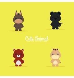 Cute Cartoon animals vector image