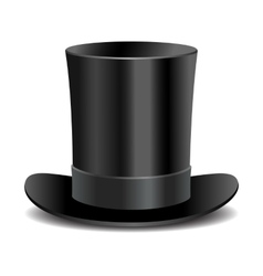 Cylinder black gentleman hat vector image