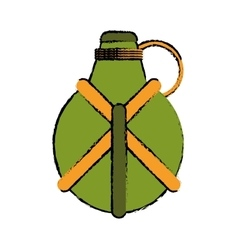 Drawing water canteen equipment camping vector