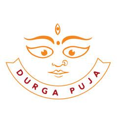 Durga puja festival of india vector