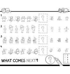 educational pattern coloring page for kids vector image