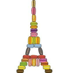 Eiffel Macaron Tower vector