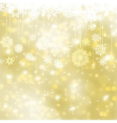 Elegant gold christmas background EPS 8 vector image vector image