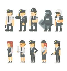 flat design police set vector image