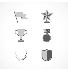 Game winning awards and recognition signs vector image