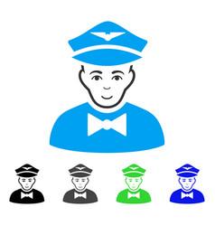 Glad airline steward icon vector