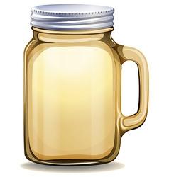 Glass jar with aluminum lid vector