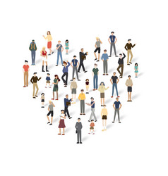 group of people with copyspace vector image vector image