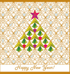 happy new year and merry christmas 2018 19 vector image
