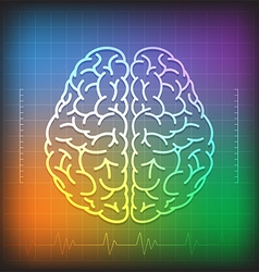 Human Brain Concept with Wave Diagram vector image
