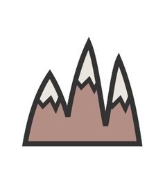 Ice Top Mountain vector