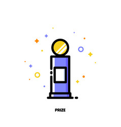 icon of first grand prize for success or winner vector image