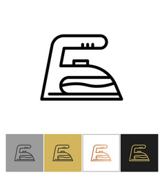 iron icon tool vector image