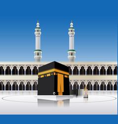 Kaaba mecca saudi arabia vector