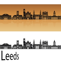 Leeds V2 skyline in orange vector image