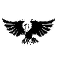 Majestic eagle with open wings vector image